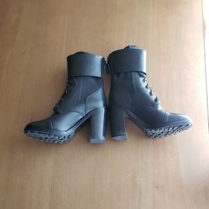 Tory Burch black leather Broome combat booties 6